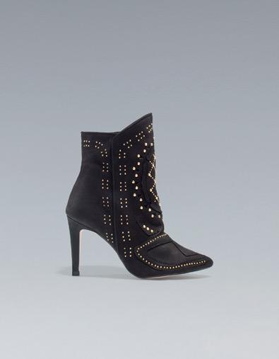 Studded High Heel Boots