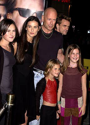 Rumer Willis , Demi Moore , Bruce Willis , Tallulah Belle Willis and Scout LaRue Willis at the Westwood premiere of MGM's Bandits