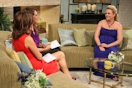 Melissa Joan Hart dishes details on her pregnancy to Kit Hoover and guest co-host Joely Fisher on the set of Access Hollywood Live on July 25, 2012 -- Access Hollywood