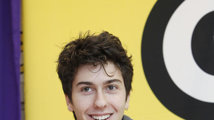 IMAGE DISTRIBUTED FOR GET SCHOOLED - Actor Nat Wolff speaks at the Q&A after the GET SCHOOLED special screening of ADMISSION at the Bronx Validus Preparatory School on Wednesday, March, 6, 2013 in New York City, New York. (Photo by Amy Sussman/Invision for Get Schooled/AP Images)