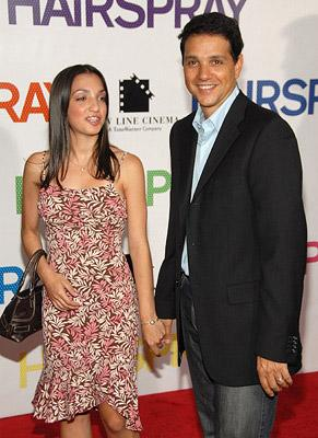 Ralph Macchio and guest at the New York premiere of New Line Cinemas' Hairspray