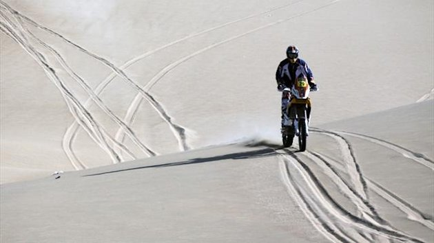 Kurt Caselli of the U.S. rides his KTM on the 2013 Dakar Rally (Reuters)