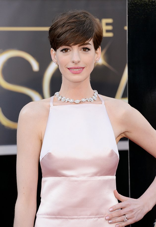 Anne Hathaway's nipples could clearly be seen through her Oscars 2013