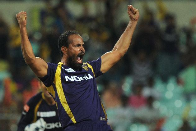 Kolkata Knight Riders bowler Yusuf Patha