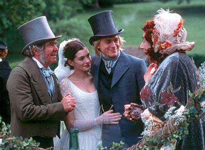 Tom Courtenay , Anne Hathaway , Charlie Hunnam and Barry Humphries in MGM's Nicholas Nickleby