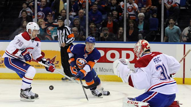 NHL: Montreal Canadiens at New York Islanders