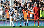 Peter Odemwingie, left, scored West Brom's second goal from the penalty spot