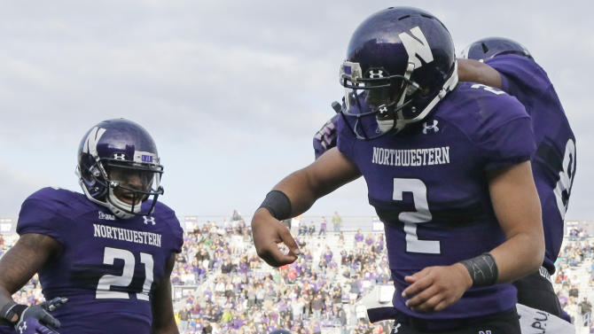 Two defensive TDs leads Northwestern over Maine