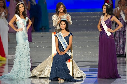 Miss China crowned Miss World 2012, in China