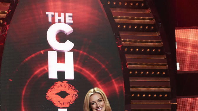 """This undated image released by Fox shows Cat Deeley, host of the new Fox dating series, """"The Choice,"""" premiering June 7, 2012. (AP Photo/Fox, Michael Becker)"""