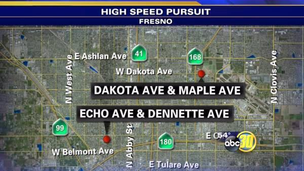 FPD high speed pursuit for car-jacking suspects
