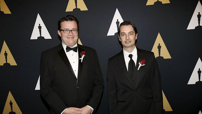 Christoph Bregler and Ronald Mallet arrive at the Scientific and Technical Awards Ceremony at the Beverly Wilshire Hotel in Beverly Hills, California