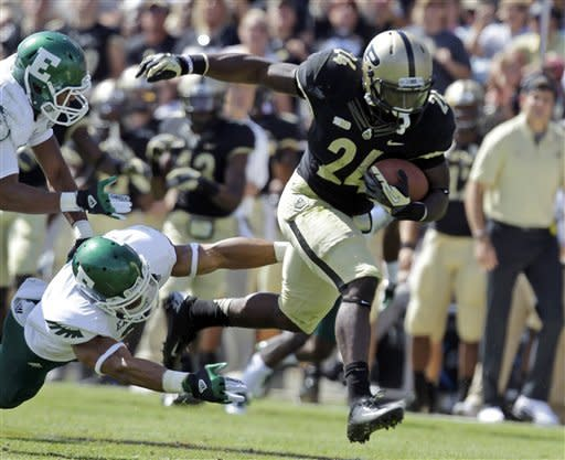 TerBush leads Purdue past Eastern Michigan 54-16