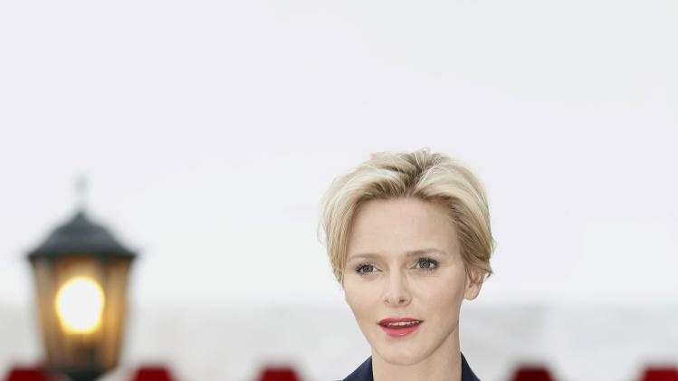 Monaco's Princess Charlene arrives at a Monte-Carlo ATP Masters Series Tournament tennis match in Monaco