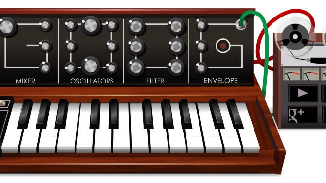 This image provided by Google shows the Google doodle of Wednesday, May 23, 2012, a fully functioning special interactive synthesizer honoring the 78th birthday of synthesizer pioneer Robert Moog. Moog died in 2005. The Moog doodle, a replica of the Minimoog Model D, may not be a highly complex synthesizer but it explores a lot of the realms of synthesis. (AP Photo/Google)