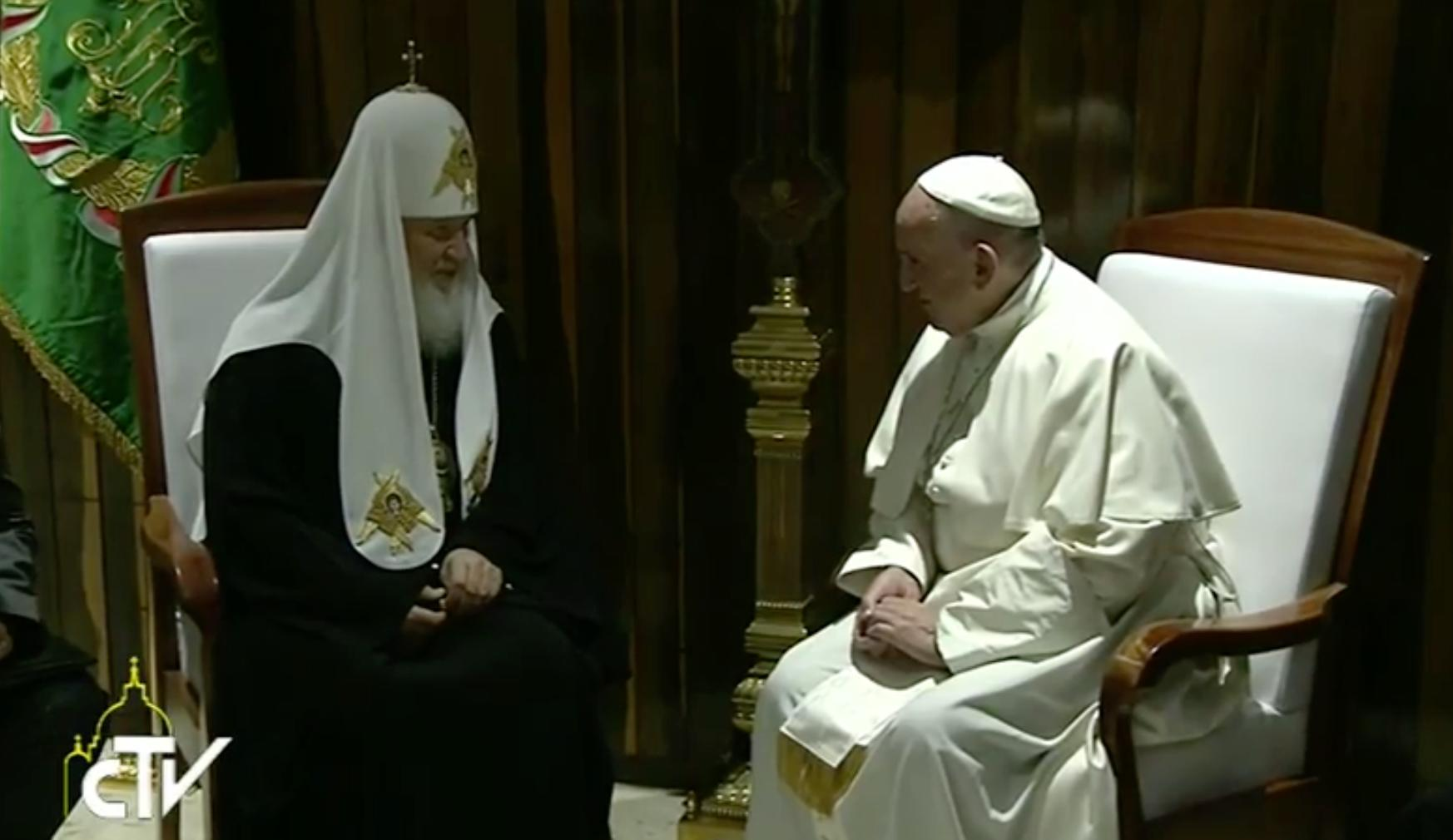 The pope and Russian Orthodox leader meet for first time in 1,000 years