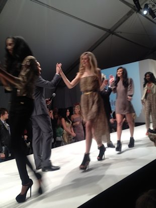 high fives at LA Fashion Weekend