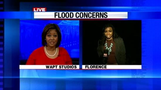 Rain causes flooding fears for Florence residents