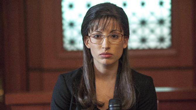 "This TV publicity image released by Lifetime shows Tania Raymonde portraying convicted killer Jodi Arias in a scene from the Lifetime movie ""Jodi Arias: Dirty Little Secret,"" premiering Saturday, June 22, at 8:00 p.m. EST. (AP Photo/Lifetime, Jack Zeman)"