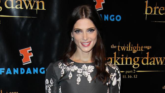 """Actress Ashley Greene arrives at Summit Entertainment's """"The Twilight Saga: Breaking Dawn - Part 2"""" VIP Comic-Con celebration, Wednesday, July 11, 2012, in San Diego. (Photo by Matt Sayles/Invision/AP)"""