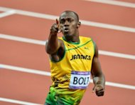 Jamaica&#39;s Usain Bolt celebrates after winning the men&#39;s 200m final at the London olympics on August 9. Bolt is targeting a spectacular send-off as the Olympic track and field competition draws to a close on Saturday with Jamaica aiming to seal their sprinting supremacy