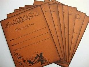DIY invitations halloween
