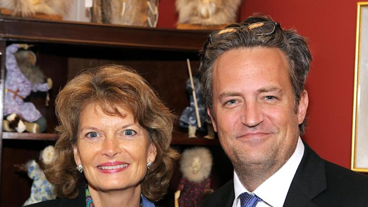 National Association of Drug Court Professionals All Rise Ambassador actor Matthew Perry, right, meets with Sen. Lisa Murkowski (R-AK) to discuss her support for the expansion of Drug Courts at a meeting at the U.S. Capitol on Tuesday, May 7, 2013 in Washington, DC. (Paul Morigi / AP Images for National Association of Drug Court Professionals)