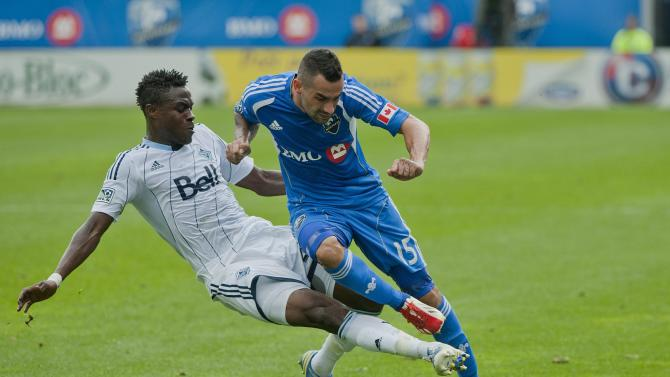 Sanvezzo leads Whitecaps past Impact 3-0