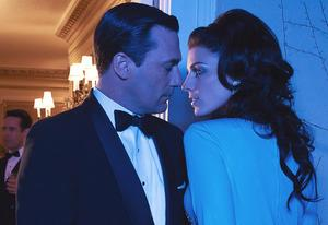 Jon Hamm and Jessica Pare | Photo Credits: Frank Ockenfels/AMC