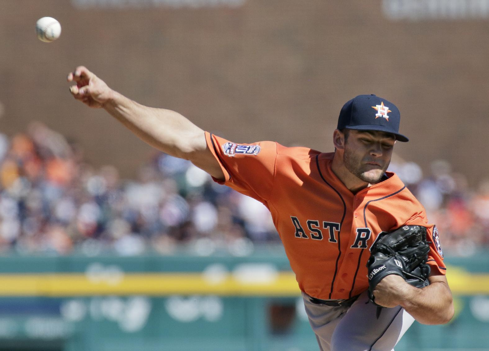 Astros turn 1st triple play since 2004, beat Tigers