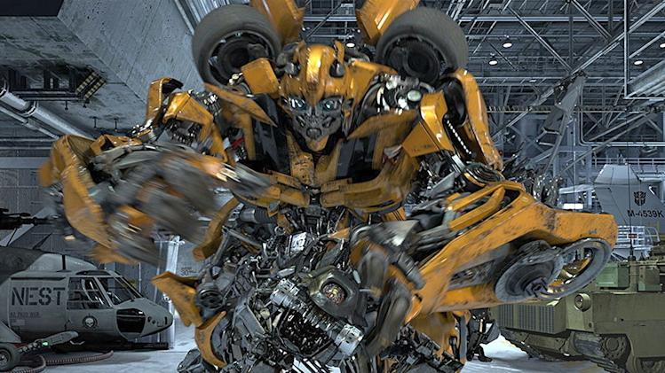 "In this undated image released by Universal Studios Hollywood, the character Bumblebee is displayed from the ""Transformers the Ride: 3D,"" attraction at Universal Studios Hollywood in Los Angeles. Debuting May 25 at Universal Studios Hollywood, the ride, based on the film franchise, offers motion-simulator vehicles and 3D high definition video. (AP Photo/Universal Studios Hollywood)"