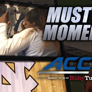 UNC's Locker Room Celebrates After Buzzer Beater | ACC Must See Moment