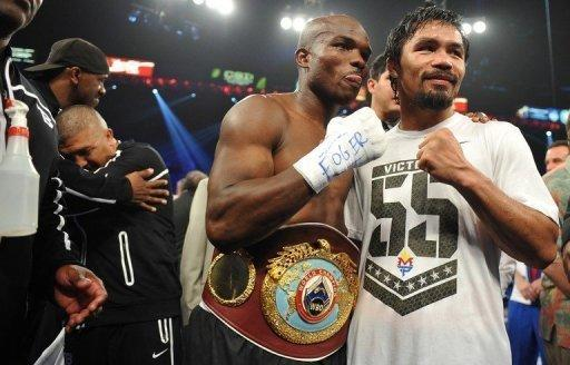 Manny Pacquiao (R) is considered the best pound-for-pound fighter in the world
