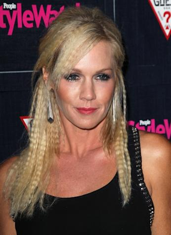 Jennie Garth steps out at the People StyleWatch Denim Party at Palihouse in West Hollywood, Calif on September 20, 2012 -- Getty Premium