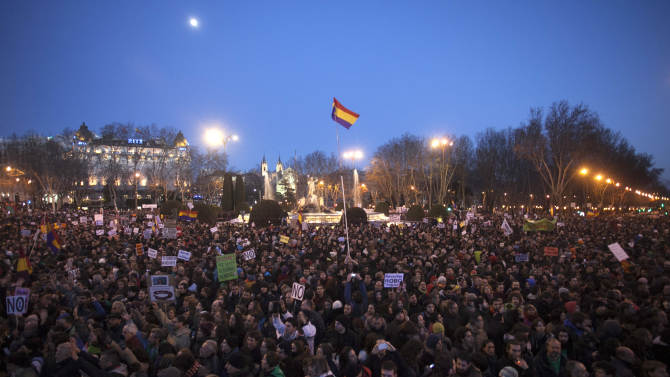 Spain anti-austerity marches attract thousands
