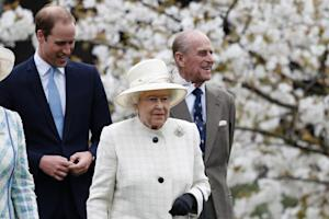 Queen Elizabeth II, Prince Philip (R) and Prince William …