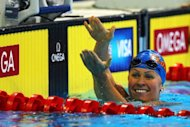 Elizabeth Beisel, seen here after competing in a semi-final heat of the women's 200m backstroke event during the 2012 US Olympic Swimming Team Trials in Omaha, Nebraska, in June