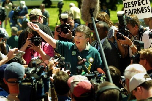 In 2003 Martha Burk, a leader in the National Council of Women's Organizations, conducted a rally at Augusta