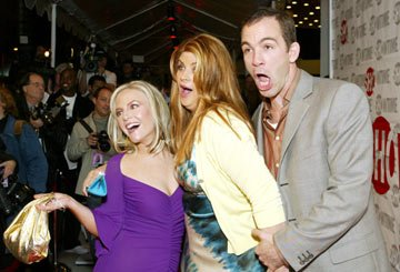 Rachael Harris, Kirstie Alley and Bryan Callen at the Los Angeles premiere of Showtime's Fat Actress - 2/23/2005