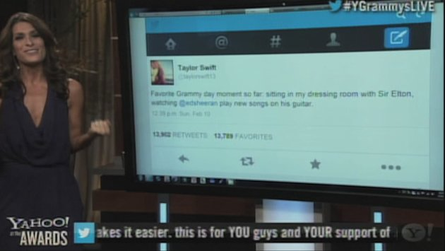 Taylor Swift tweets to Ed …