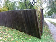 Hurricane Sandy battered our fence but otherwise left little trace.