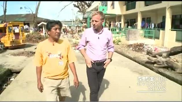 School becomes shelter for typhoon victims