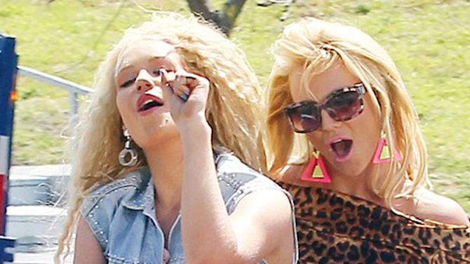 Britney Spears and Iggy Azalea Shoot For New Music Video