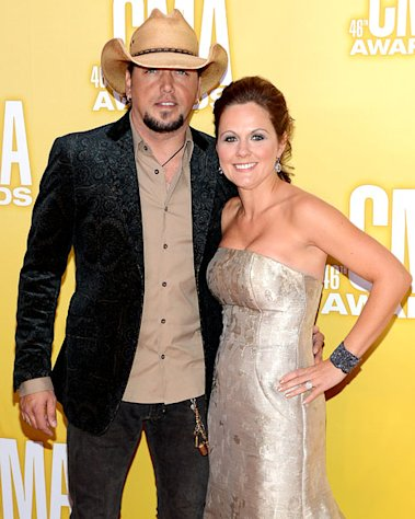 Jason Aldean, Wife Jessica Ussery Walk CMAs Red Carpet Together Post-Cheating Scandal