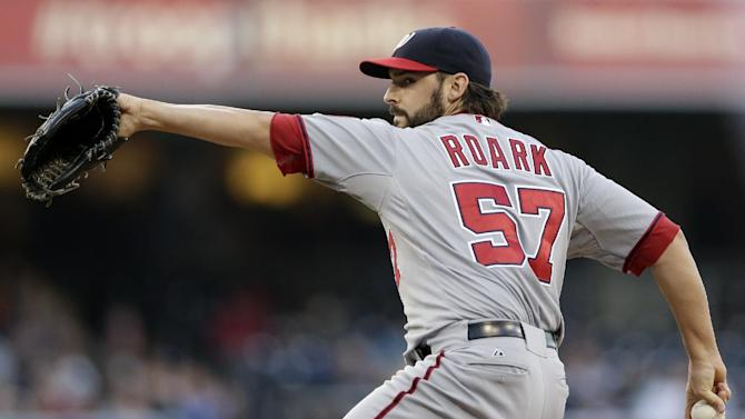 Roark fans 11, holds Padres to 3 hits in 6-0 win