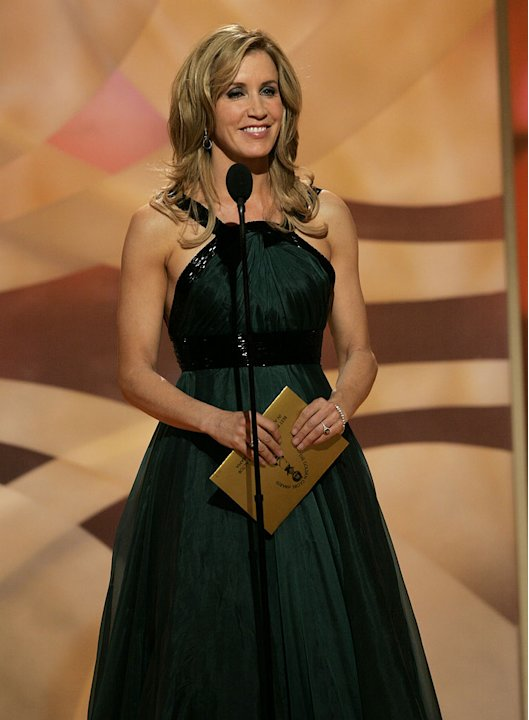 Felicity Huffman at the 64th annual Golden Globe Awards.