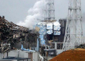 Damage at the Fukushima site
