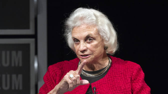 Sandra Day O'Connor steps carefully in NY gun case