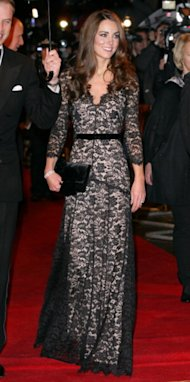 Kate Middleton attended a film premiere wearing an Alice Temperley dress.