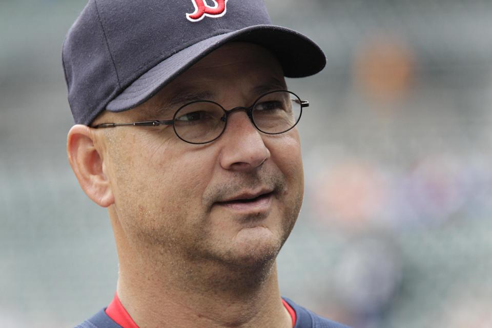 FILE - This May 26, 2011 file photo shows Boston Red Sox manager Terry Francona during a baseball game against the Detroit Tigers in Detroit. Former Boston manager Francona will interview with the Cleveland Indians on Friday, Oct. 5, 2012. (AP Photo/Carlos Osorio, File)